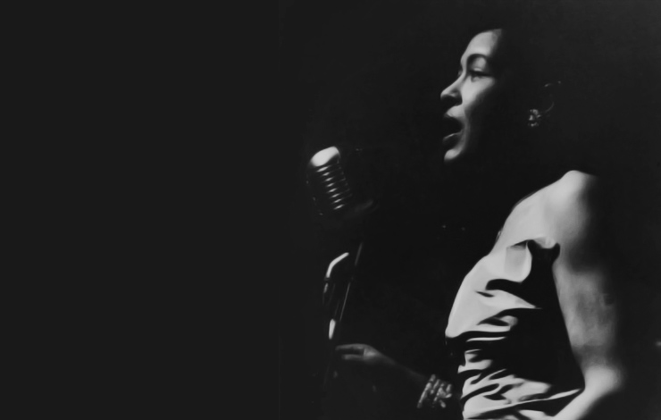 Billie Holiday on stage in Rochester, NY, 1957. Photo: Paul J. Hoeffler