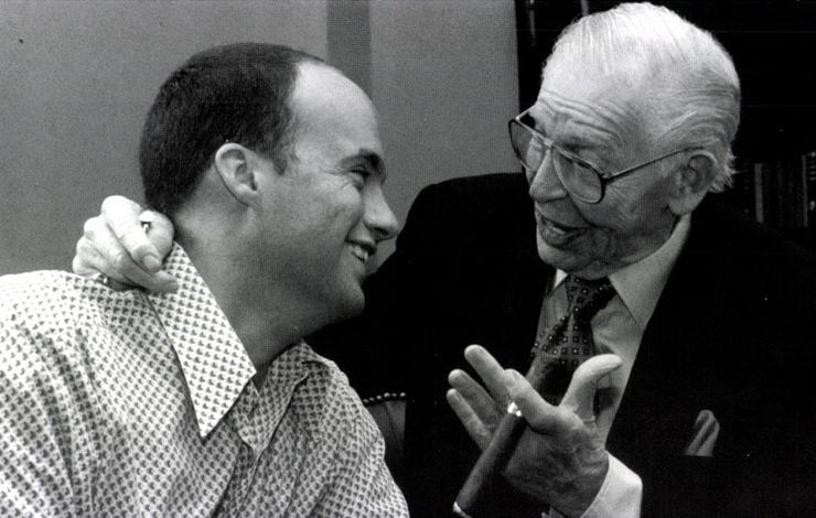 Director Dean Ward with Milton Berle