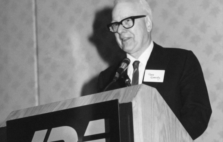 Pare Lorentz, the first IDA Career Achievement Award Honoree, 1985.