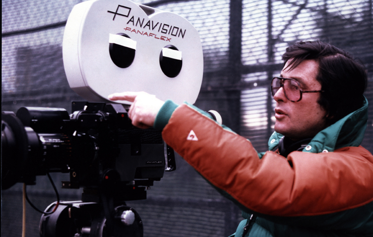 Robert Evans on the set of <em>The Players</em> as seen in Brett Morgen and Nanette Burstein's <em>The Kid Stays in the Picture</em>, a USA Films release. Photo courtesy of USA Films.