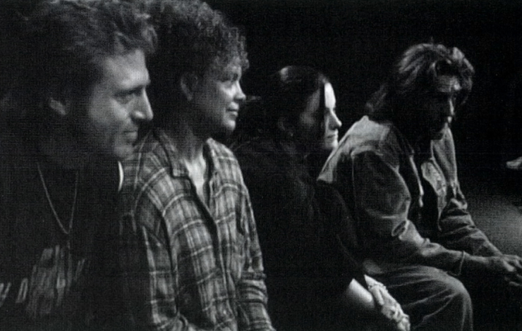 From Chuck Workman's <em>The Actor's Life</em>. L to R: Richard Gleason, Jolie Jones, Rosemary Morgan, John Glover. Photo courtesy of Calliope Films
