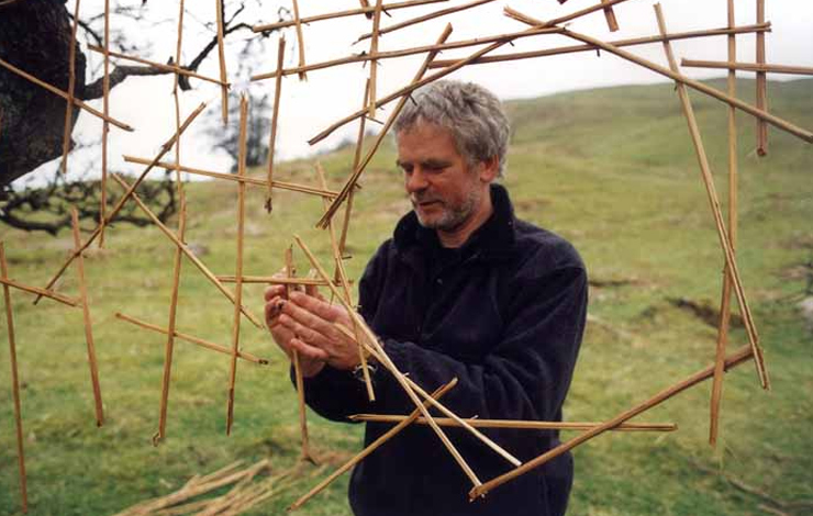 Artist Andy Goldsworthy, the subject of Thomas Riedelsheimer's <em>Rivers and Tides</em>, distributed by Roxie Releasing. Photo courtesy of Roxie Releasing.