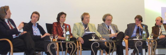 """Participants in the """"Stalin As Seen By..."""" session. Courtesy of Banff Television Foundation"""