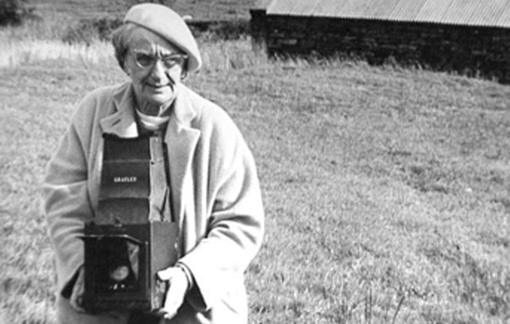 Dorothea Lange shooting her photo series on Ireland's people in the 1950's. From Dierdre Lynch's 'Photos to Send.' Photo courtesy of Dierdre Lynch.