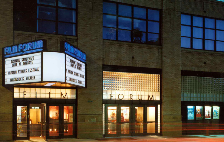 The Film Forum in New York City reopened in this newly constructed theater on Houston Street in September 1990.