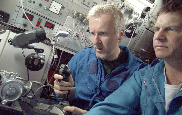 Academy Award-winning director James Cameron (left), accompanied by actor Bill Paxton, goes under the sea for a never-before-seen 3-D look at one of the most captivating wrecks in history: the Titanic in Ghosts of the Abyss.