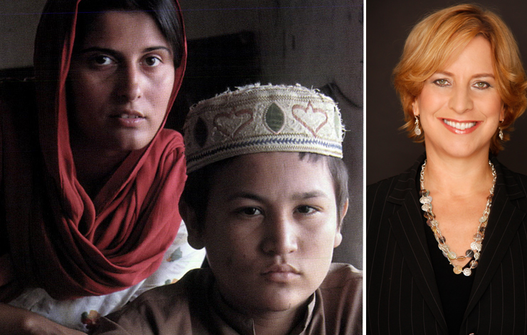 From <em>Terror's Children</em>. Courtesy of Discovery Times Channel. Right: Vivian Schiller, senior vice president and general manager of Discovery Times Channel.