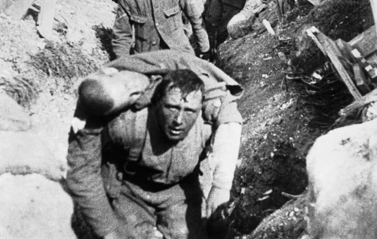 From the 1916 film <em>The Battle of the Somme</em>. Courtesy of the Imperial War Museum, London UK.