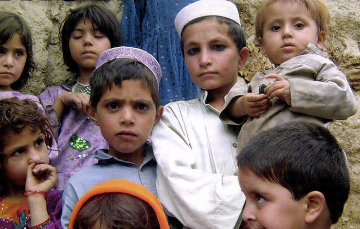 Children in Jalalabad. From <em>Afghanistan Unveiled</em>, written and directed by Brigitte Brault, with the participation of the trainees at the AINA Afghan Media and Cultural Center in Kabul, and airing on November 16 on PBS. Courtesy of Polly Hyman and the AINA Women's Filming Group/ITVS.