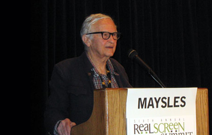 Filmmaker Albert Maysles, one of the keynote speakers at the 2004 RealScreen Summit. Courtesy of RealScreen