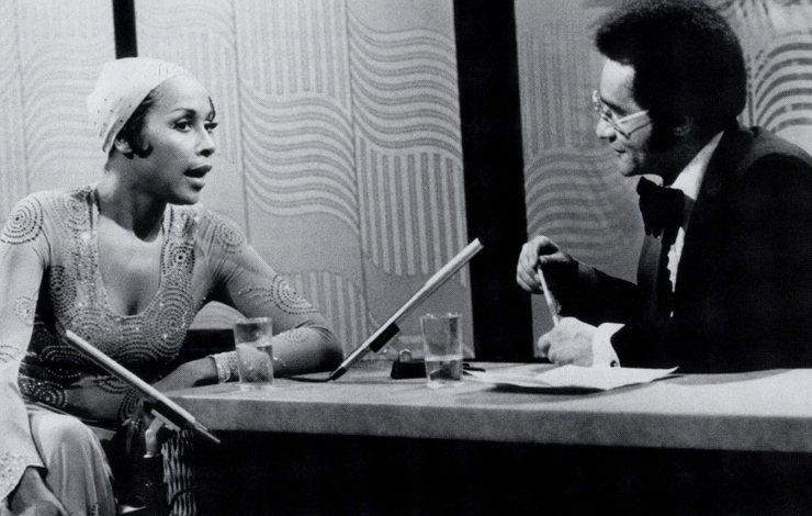 Diahann Carroll (left) and Tony Brown. From 'Black Journal,' the PBS series from the late 1960s. Courtesy of Thirteen/WNET New York.