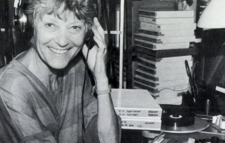 Charlotte Zwerin, working on Thelonious Monk: <em>Straight, No Chaser.</em>