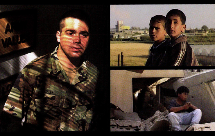 Left: from Sarah Goodman's 'Army of One.' From the late James Miller's 'Death in Gaza.' From 'Arna's Children'