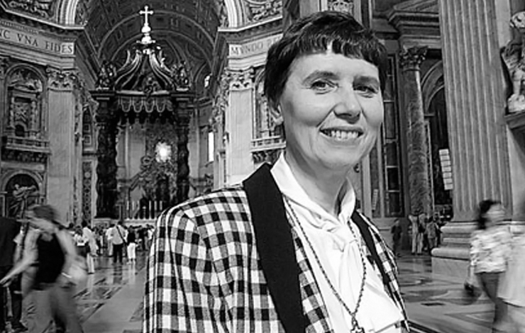 Sister Jeannine Grammick, subject of Barbara Rick's 'In Good Conscience,' at the Vatican. Courtesy of Out of the Blue Films