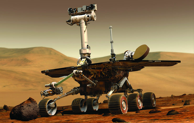 An animated image of one of the two Rovers used in the Mars Exploration Rover (MER) project. Photo: NASA.