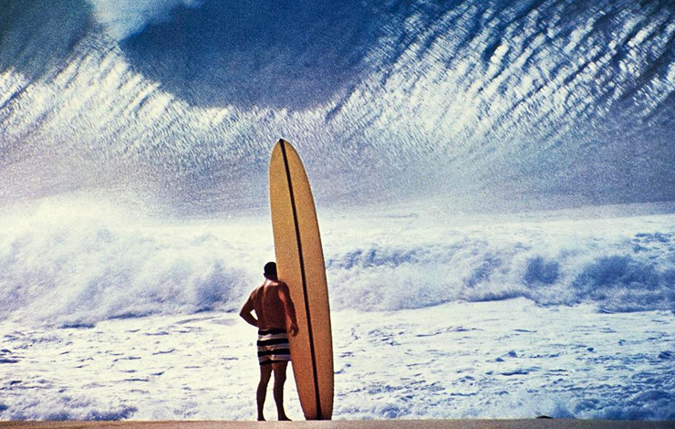 Greg Noll in Waimea Bay, Hawaii. From Stacy Peralta's 'Riding Giants.' Courtesy of Greg Noll Collection.