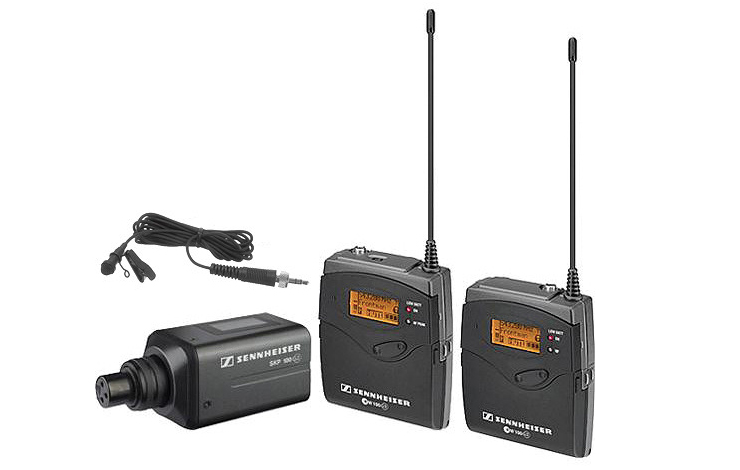 The Sennheiser Evolution Series 100. Receiver, wireless transmitter, plug-on transmitter, wireless microphone. Images courtesy of Sennheiser Eletronics Corp.