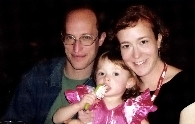 Filmmakers Michael Galinsky (left) and Suki Hawley, with their daughter, Fiona. Photo: Sam Abramson