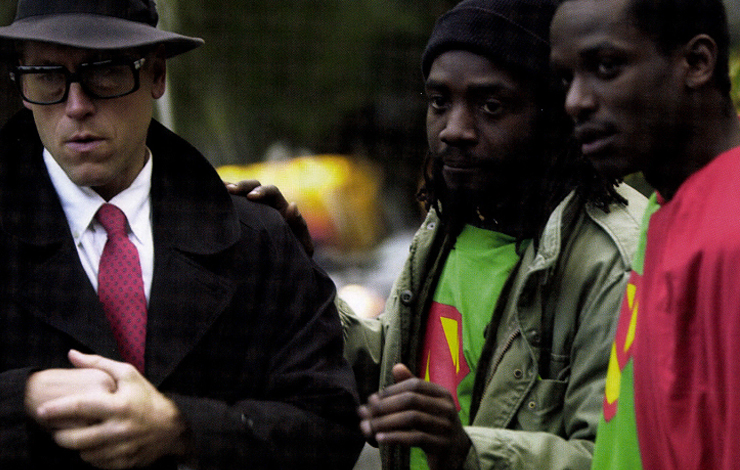 New York University film student Alrick Brown (center), directs his short film about the shooting of Amadou Diallo called 'The Adventures of Supernigger: Episode 1, The Final Chapter.' From 'Film School' a documentary series that aired on IFC in September and October. Photo: Joshua Farley
