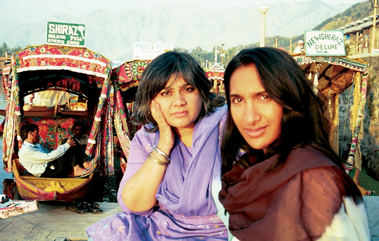 Filmmakers Geeta Patel (left) and Sanain Kheshgi, whose Project <em>Kashmir</em> was part of the Tribeca All Access program, in Kashmir.