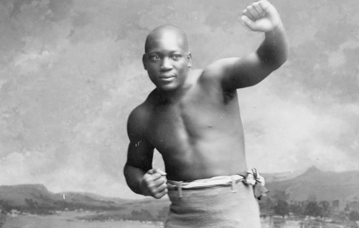 Jack Johnson, subject of Ken Burns' <em>Unforgivable Blackness: The Rise and Fall of Jack Johnson</em>, airing on PBS in January 2005.