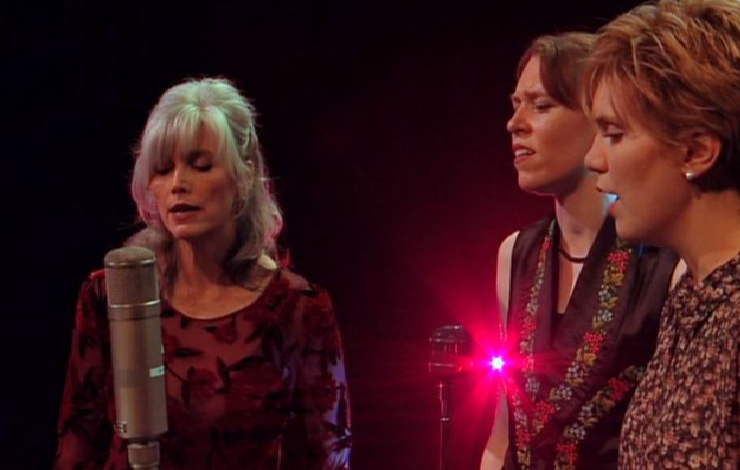 Emmylou Harris, left, and friends from <em>Down from the Mountain</em>.