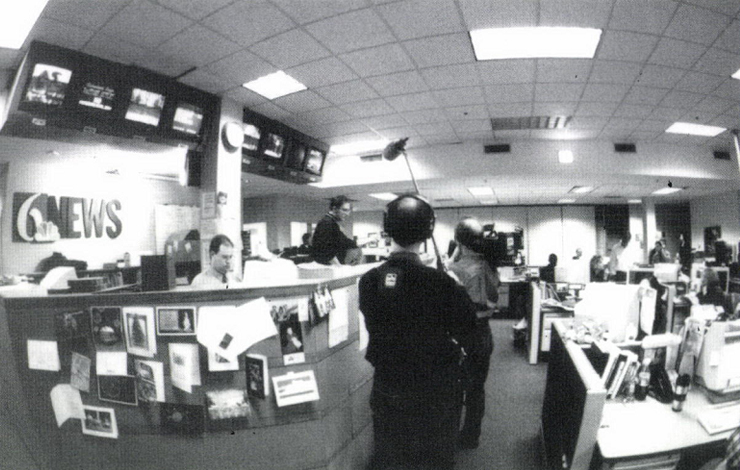<em>Local News</em>, a five-part documentary series that follows the daily of reporters, news managers and corporate executives at WCNC-TV, Charlotte's NBC affiliate, as they struggle to find a better way for local TV news. Photo: Aaron Stevenson.