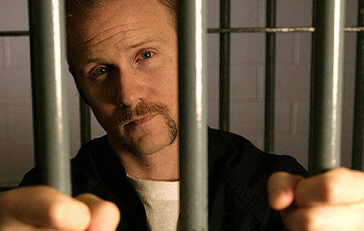 Filmmaker Morgan Spurlock behind bars, for the next of his '30 Days' series on F/X