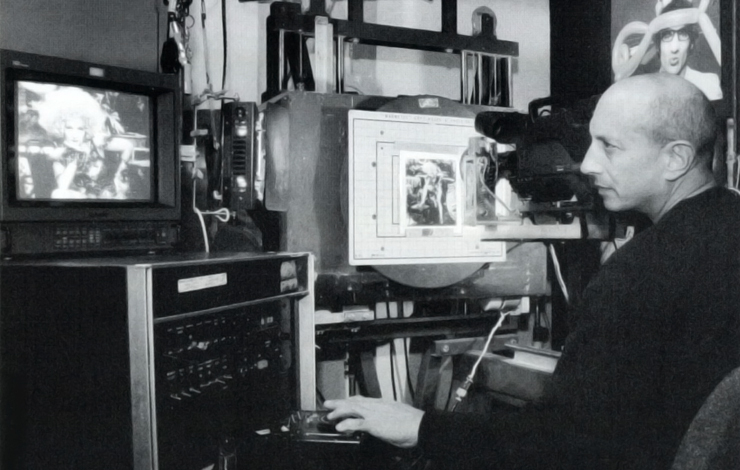 Berle Cherney with his motion control equipment.