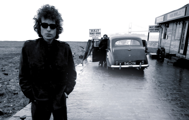 Bob Dylan in Aust, England, 1966. From Martin Scorsese's 'AMERICAN MASTERS: No Direction Home: Bob Dylan.' Photo: Barry Feinstein.