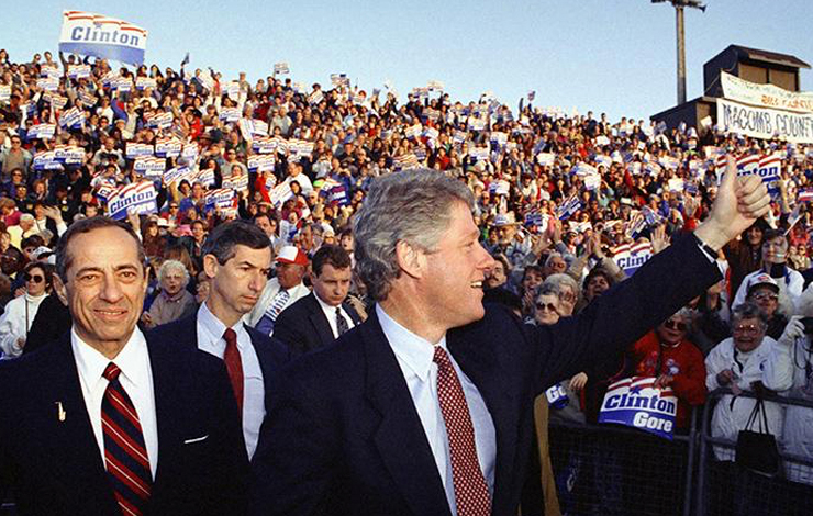 Bill Clinton campaigning for President in 1992