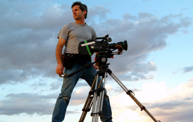 Buddy Squires filming at Canyonlands National Park, 2006. Photo: Craig Mellish. Courtesy of Florentine Films