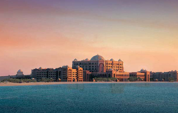 The seven-star Emirates Palace Hotel, site of the Middle East International Film Festival in Abu Dhabi