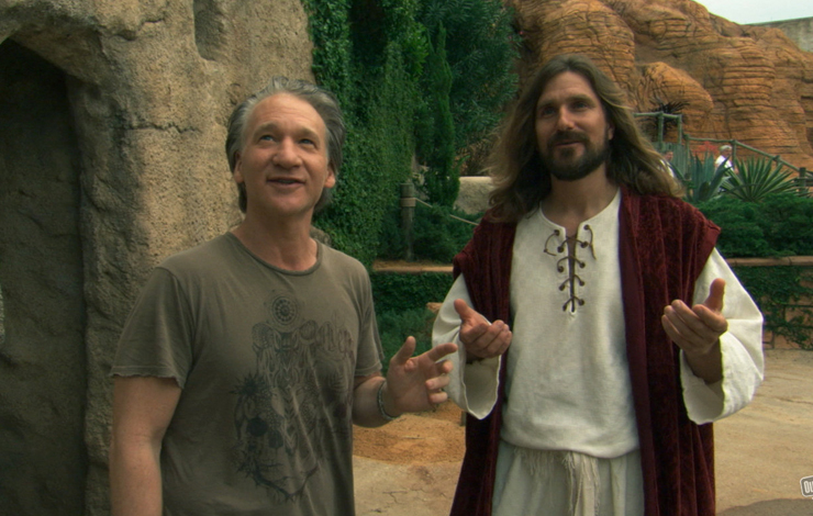 On location at The Holy Land Experience in Orlando, Florida during production for 'Religulous'