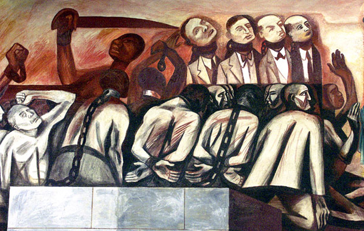 José Clemente Orozco's mural Struggle in the Orient. Artist: Photo: Rick Tejada-Flores