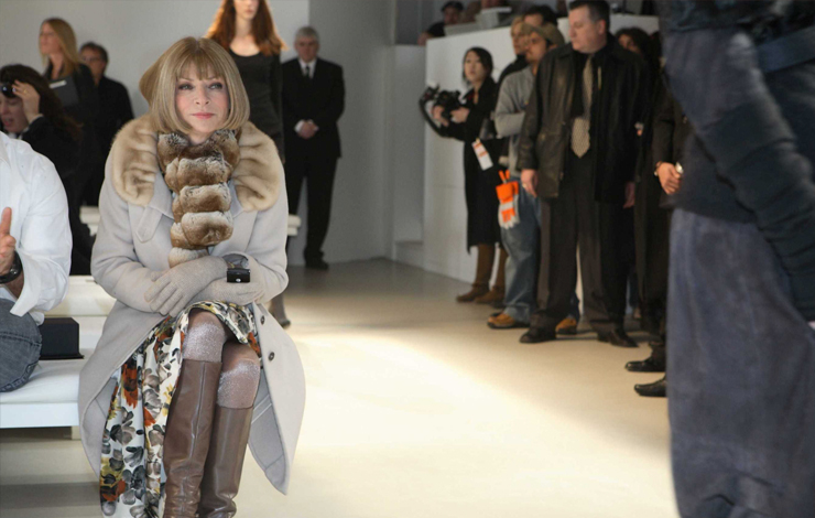 Anna Wintour (Editor-in-Chief, Vogue) in <em>The September Issue</em>, a film by R. J. Cutler. Courtesy of Roadside Attractions