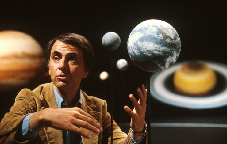 From Carl Sagan, Ann Druyan and Steven Soter's <em>Cosmos</em>, for which Kent Gibson designed and mixed the sound.
