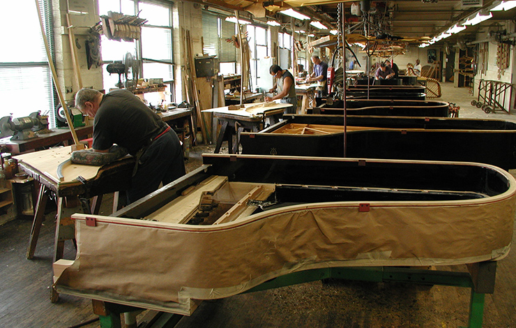 From Ben Niles' 2006 film <em>Note by Note: The Making of Steinway L1037</em>. Courtesy of Ben Niles