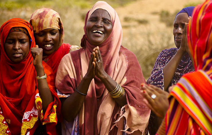 Women celebrate in Somaliland. From <em>Half the Sky</em> (Dir.: Maro Chermayeff)