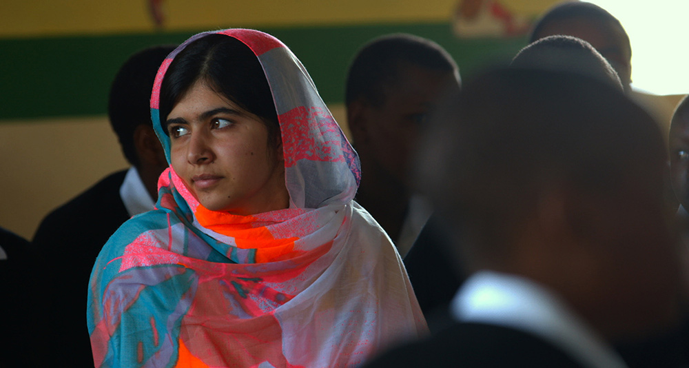 Malala Yousafzai in Davis Guggenheim's 'He Named Me Malala.' Photo by Gina Nemirofsky. © 2015 Twentieth Century Fox Film Corporation All Rights Reserved
