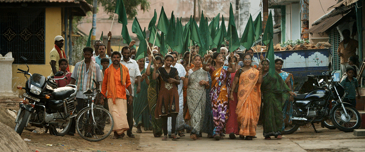 March against coal-fired power plant in Sompeta, India. From Avi Lewis' 'This Changes Everything'