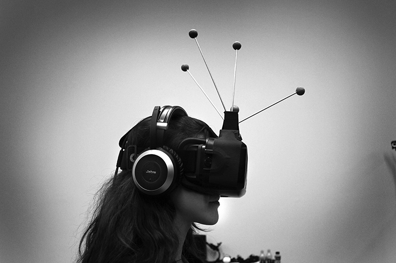 Production for 'The Enemy', a VR project developed at MIT's Open Documentary Lab. Photo: Helene Adamo, courtesy of Sarah Wolozin.