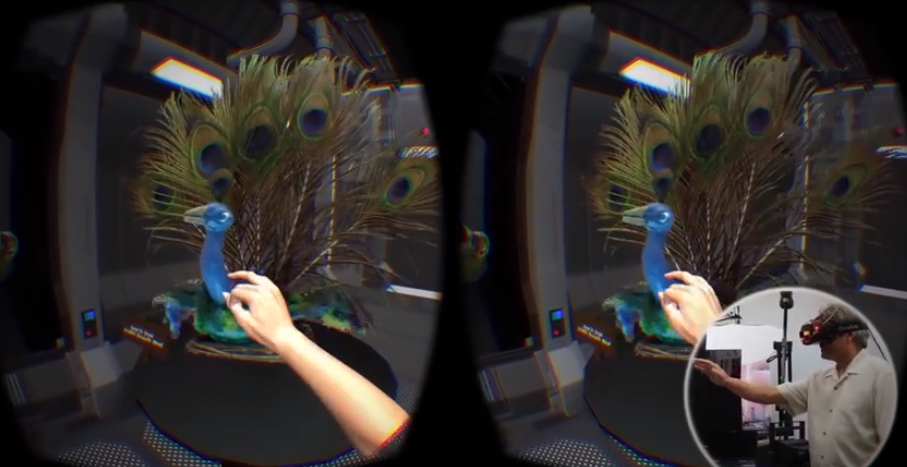 USC students conducting new research on novel methods of importing real world objects into VR. This is an example of light-field-like captures of stop-motion animation figures.  Courtesy of USC Institute for Creative Technologies.