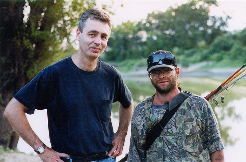 Filmmaker Steve James (left) with Stevie Fiedling, subject of  James' 'Stevie'. Courtesy of Kartemquin Films
