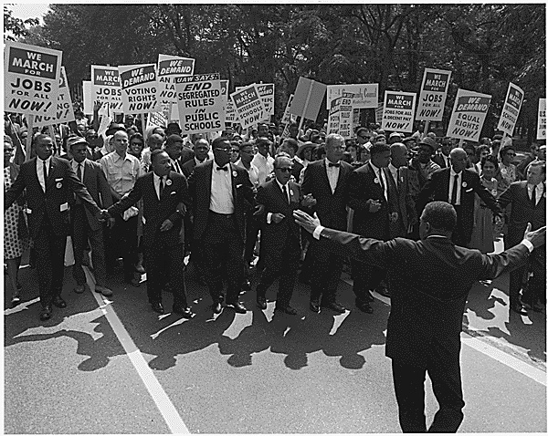 The March on Washington, August 28, 1963. From <em>Eyes on the Prize</em>, produced by Blackside, Inc., and presented in 1987 on PBS by WGBH-Boston. Photo: National Archives and Records Administration