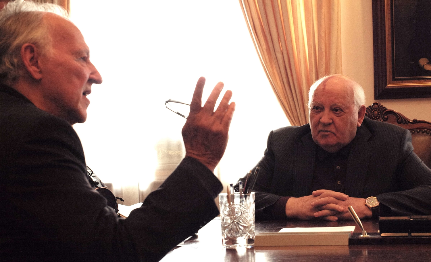 "From Werner Herzog and Andre Singer's  ""Meeting Gorbachev."" Courtesy of 1091"