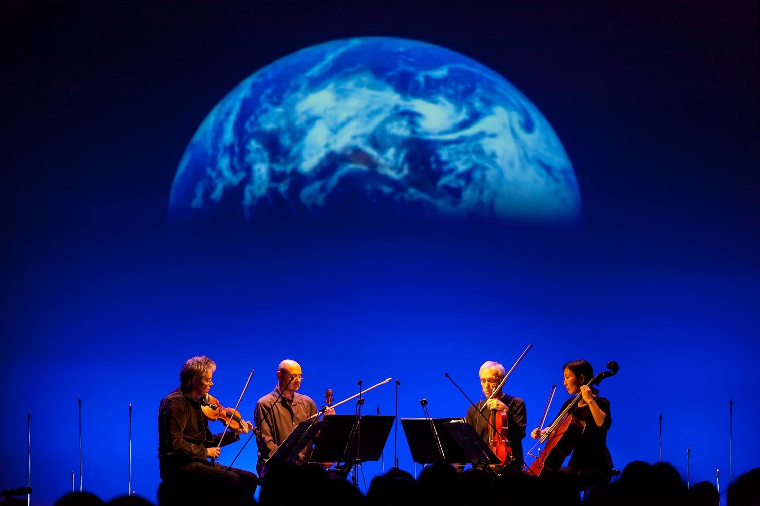The Kronos Quartet performing in Krakow, Poland in 2014. Photo: Wojciech Wandzel