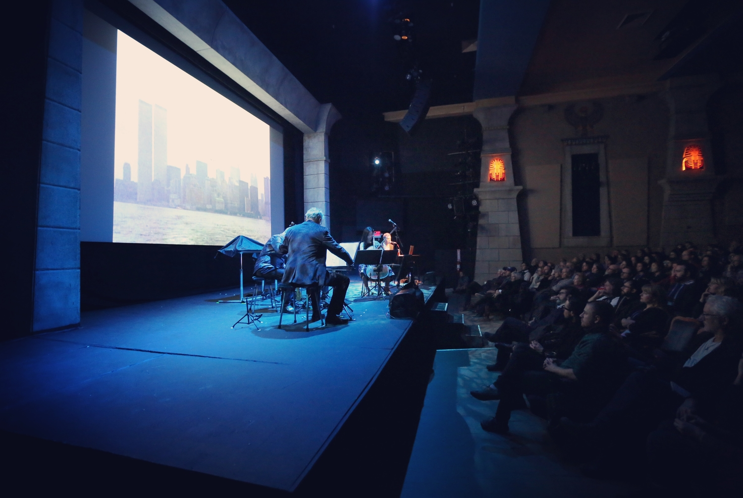 "Sam Green and the Kronos Quartet performing ""A Thousand Thoughts"" at the 2018 Sundance Film Festival. Courtesy of Sam Green"