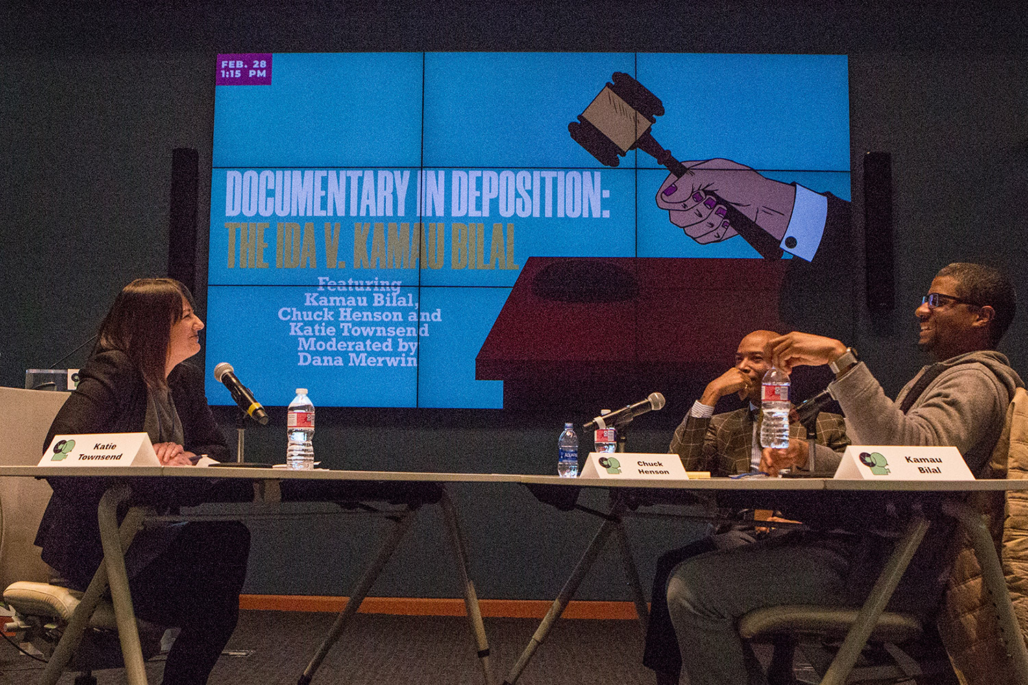 IDA presented a mock deposition at the 2019 Based on a True Story conference. Photo: Alan Goforth