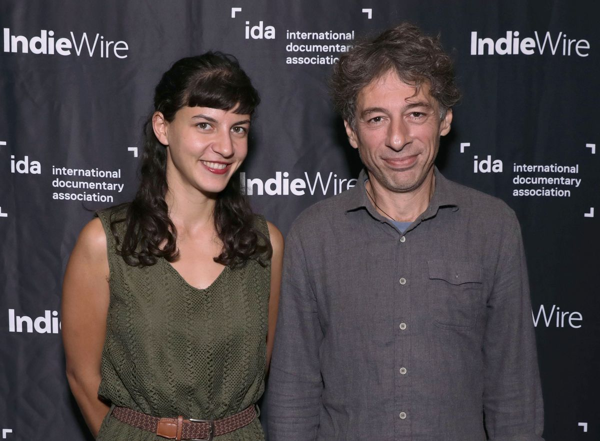 'Honeyland' directors Tamara Kotevska and Ljubomir Stefanov, following a screening at the IDA Screening Series.